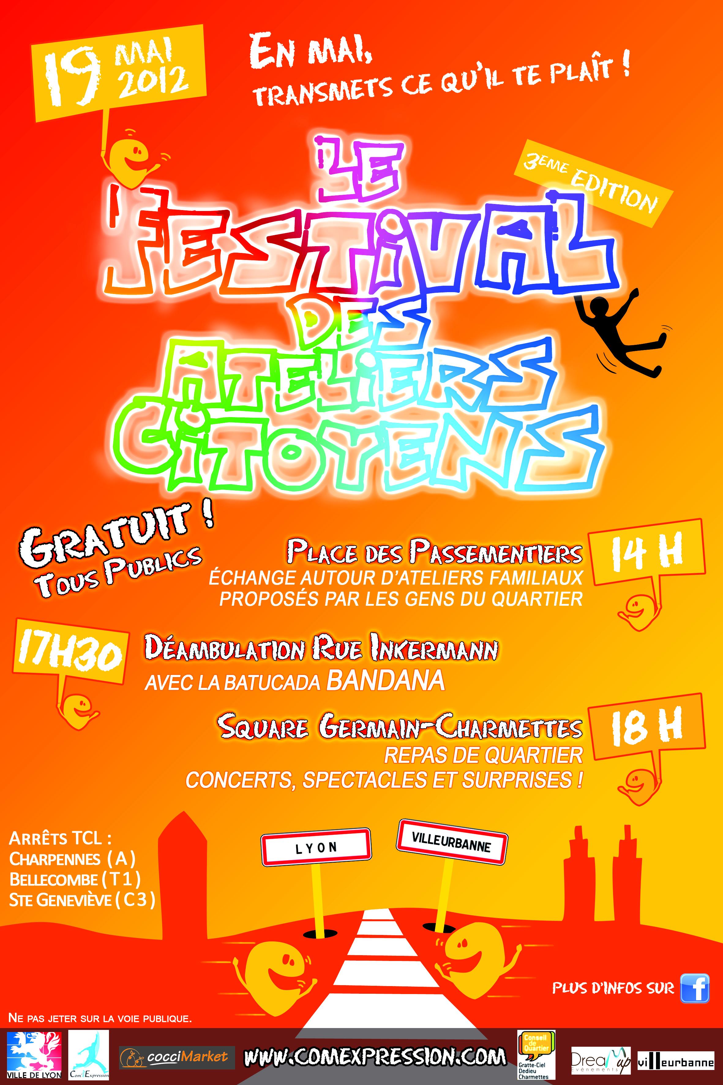 affiche du festival des ateliers citoyens 2012
